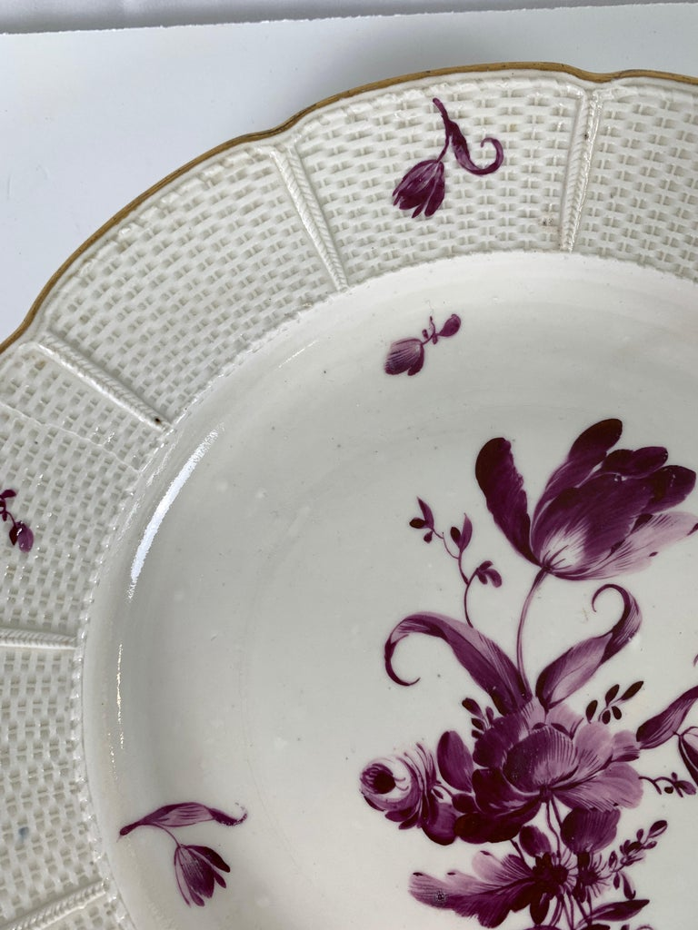 Hand-Painted From the Collection of Mario Buatta a Pair of 18th Century Ludwigsburg Dishes For Sale