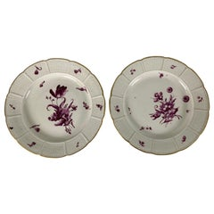 From the Collection of Mario Buatta a Pair of 18th Century Ludwigsburg Dishes