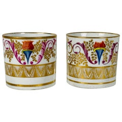 From the Collection of Mario Buatta a Pair of Regency Period Coffee Cups