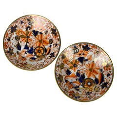 Rrom the Collection of Mario Buatta a Pair of Tobacco Leaf Imari Saucers