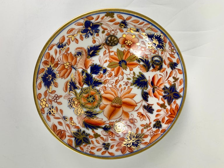 Chinoiserie From the Collection of Mario Buatta a Set of Four Imari Tobacco Leaf Saucers For Sale