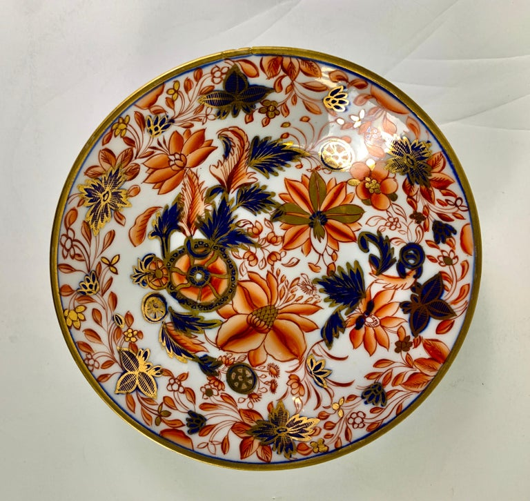European From the Collection of Mario Buatta a Set of Four Imari Tobacco Leaf Saucers For Sale