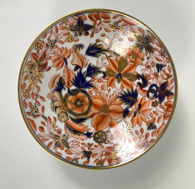From the Collection of Mario Buatta a Set of Four Imari Tobacco Leaf Saucers In Excellent Condition For Sale In Katonah, NY