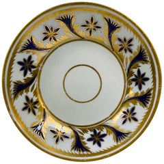 From the Collection of Mario Buatta an English Dish with Blue & Gold Decoration