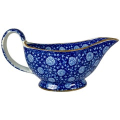 From the Collection of Mario Buatta Blue & White Sauceboat Made England c-1820