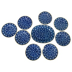 From the Collection of Mario Buatta Eight Blue and White Dishes and a Platter