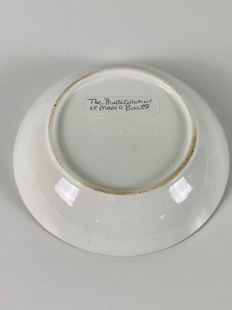 From The Collection of Mario Buatta Miles Mason Porcelain Coffee Can & Saucer For Sale 4