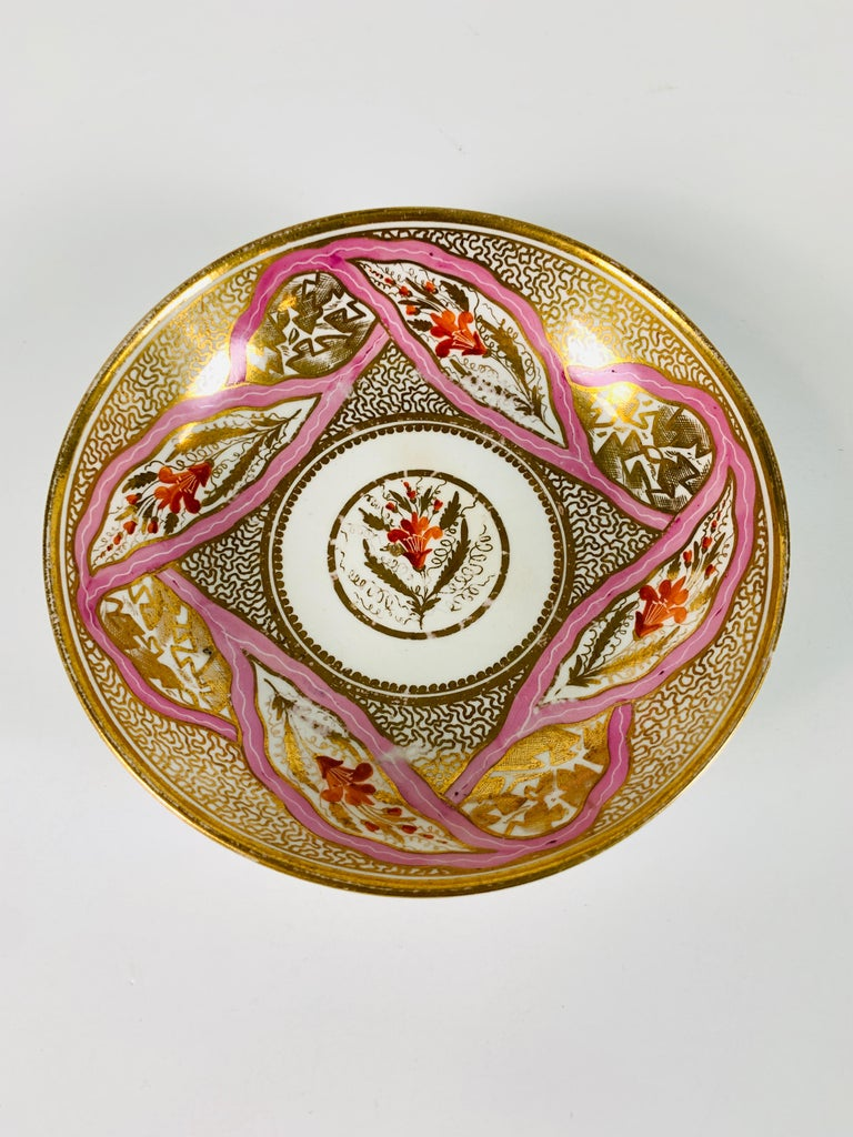 Neoclassical From The Collection of Mario Buatta Miles Mason Porcelain Coffee Can & Saucer For Sale