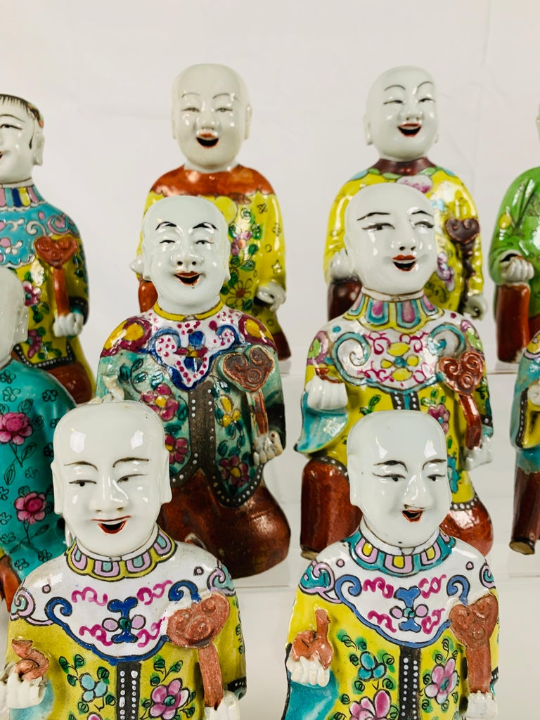 Hand-Painted From the Collection of Mario Buatta Set of 12 Chinese
