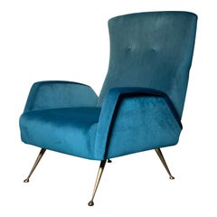 from the Marco Zanuso Era 50s Easy Chair / Restored & Refurbished - Perfect !