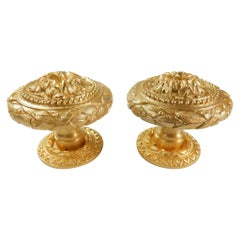 From the Sherle Wagner Collection, 2 Sided 22-Karat Door Knob Set