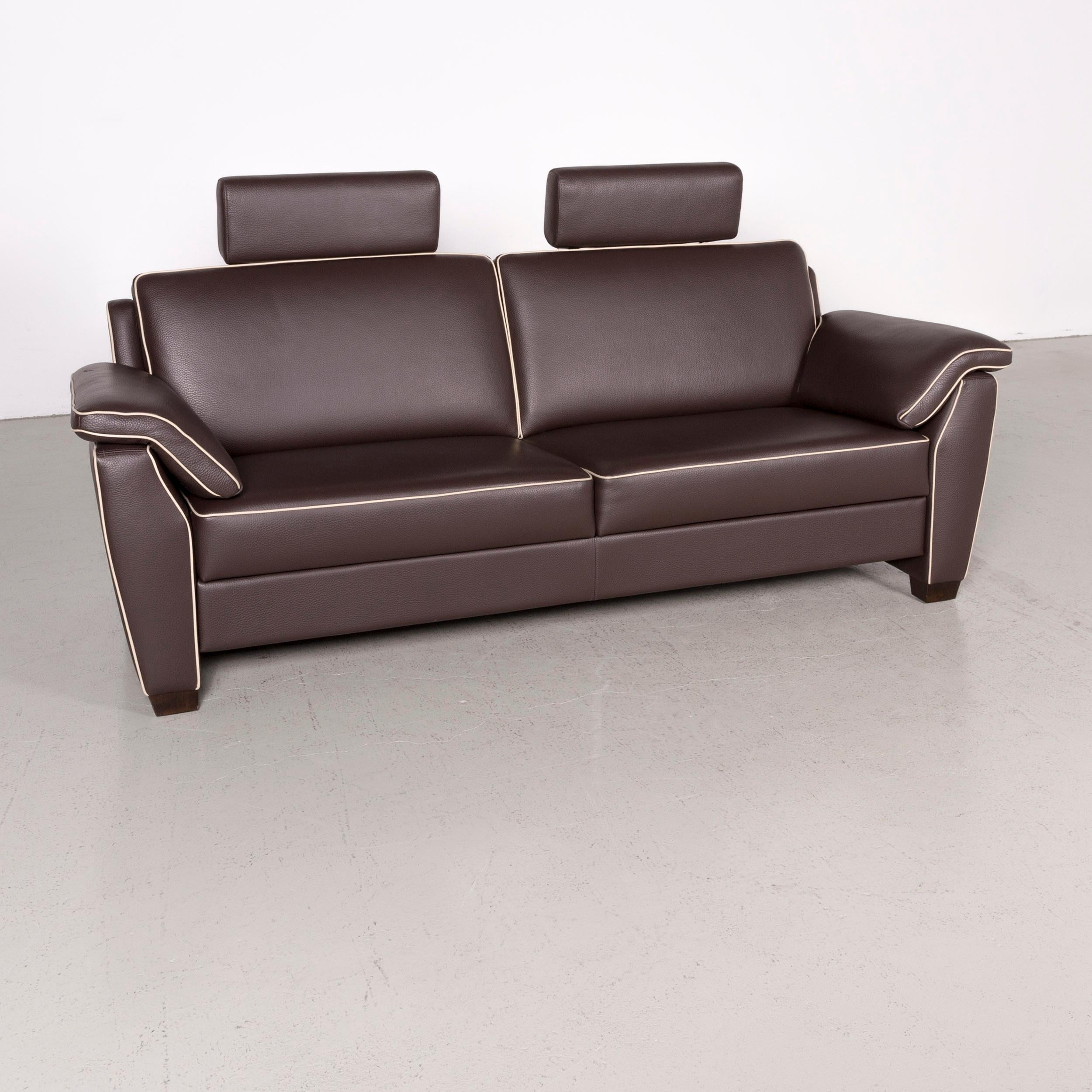Fine Frommholz Trevi Designer Leather Sofa Brown Genuine Leather Three Seat Couch Pdpeps Interior Chair Design Pdpepsorg