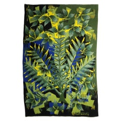 """Frondaison"" Wall Tapestry by J.C Bissery from the 1970s, Signed and Numbered"