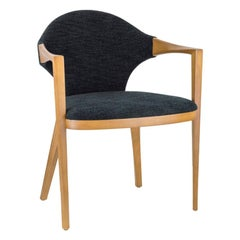 Fronteira Brazilian Contemporary Wood Upholstered Chair by Lattoog