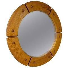 Fröseke AB Nybofabriken Midcentury Round Wall Mirror, 1960s, Sweden