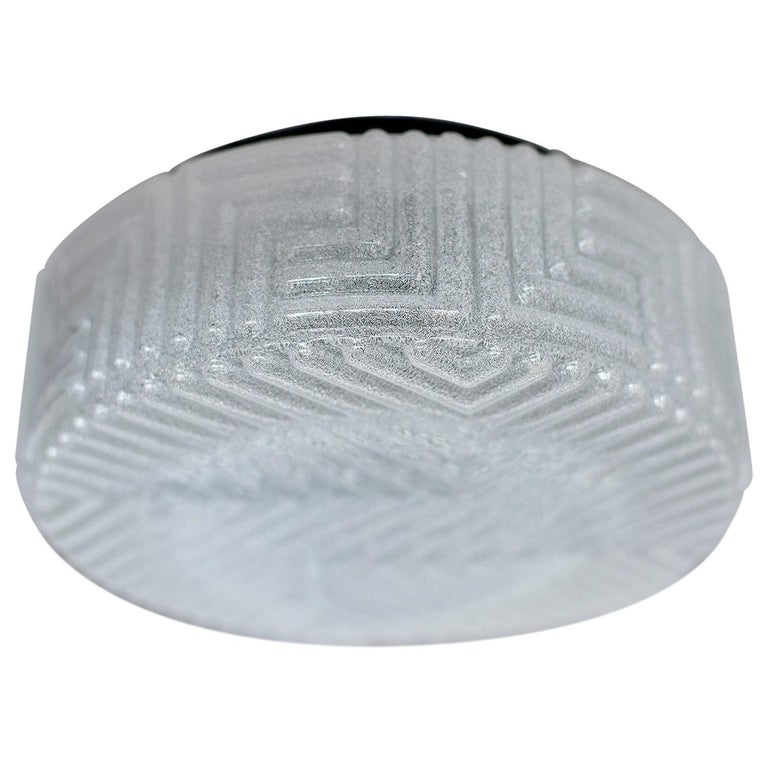 Frosted Austrian Flush Mount For Sale