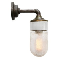 Frosted Glass Brass Vintage Cast Iron Arm Scones Wall Lights