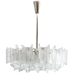 Frosted Glass Chandelier By J. T. Kalmar