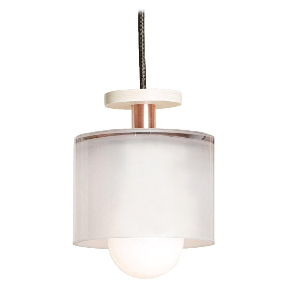 Frosted Glass Spun Pendant Light by Ladies & Gentlemen Studio
