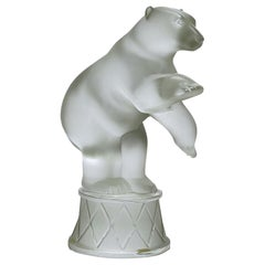 "Frosted Glass Study ""Circus Polar Bear"" by Marie-Claude Lalique"