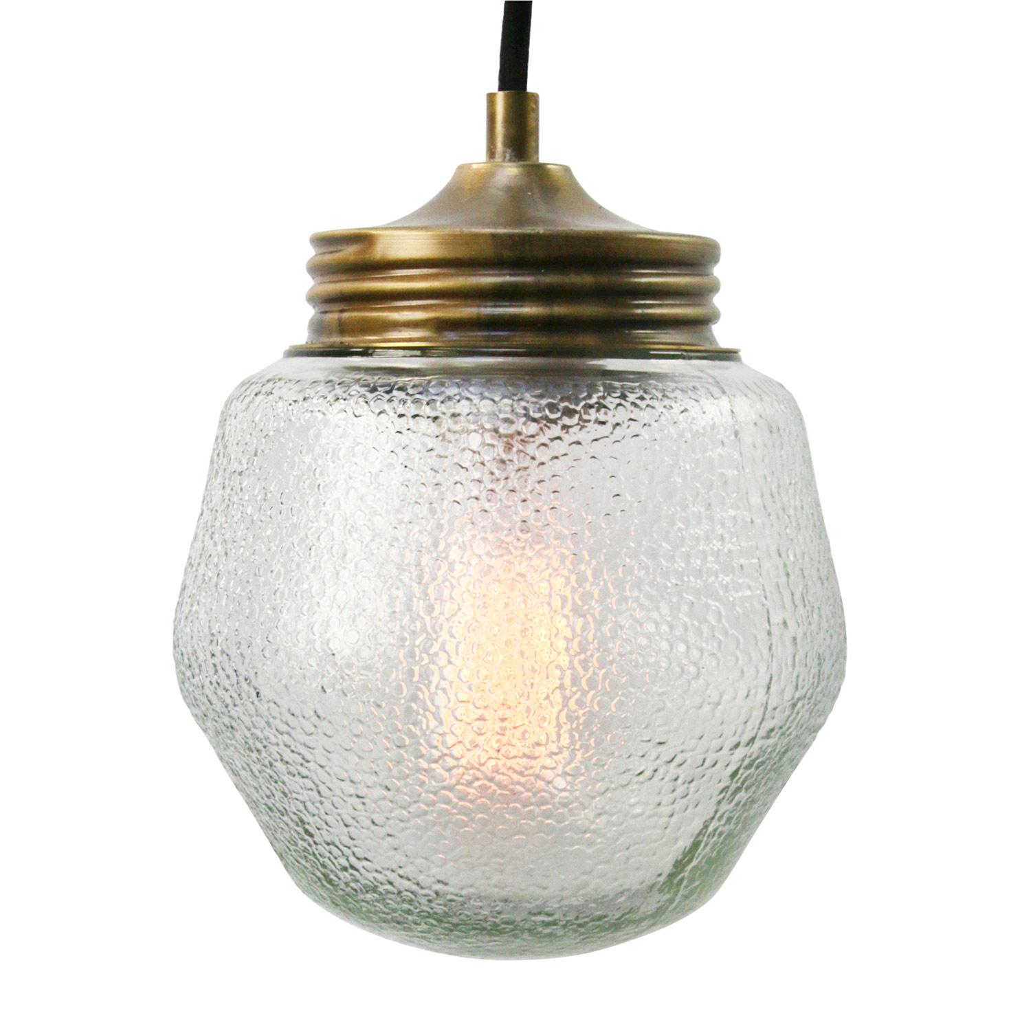 Frosted Glass Vintage Industrial Brass Pendant Lights