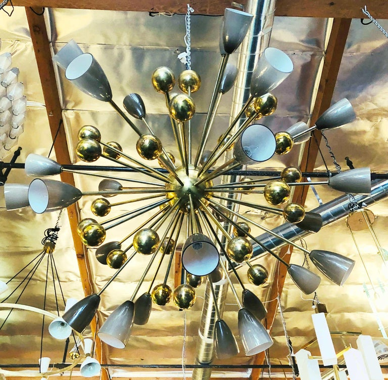 Mid-Century Modern Shades Sputnik Chandelier For Sale