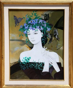 Flores Silvestres, Framed Acrylic Painting, 1983