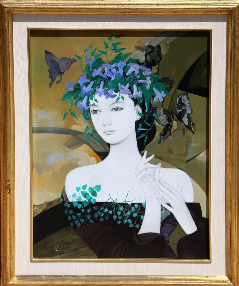 Froylán Ojeda Portrait Painting - Flores Silvestres, Framed Acrylic Painting, 1983