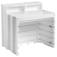 Frozen Desk in White Polyethylene by Matteo Ragni & Maurizio Prina for Plust