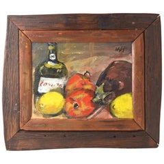 Fruit and Bottle Still Life by Wyly