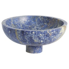 Fruit Bowl in Blue Marble, by Karen Chekerdjian, Made in Italy