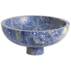 Fruit Bowl in Blue Marble, by Karen Chekerdjian, Made in Italy in Stock