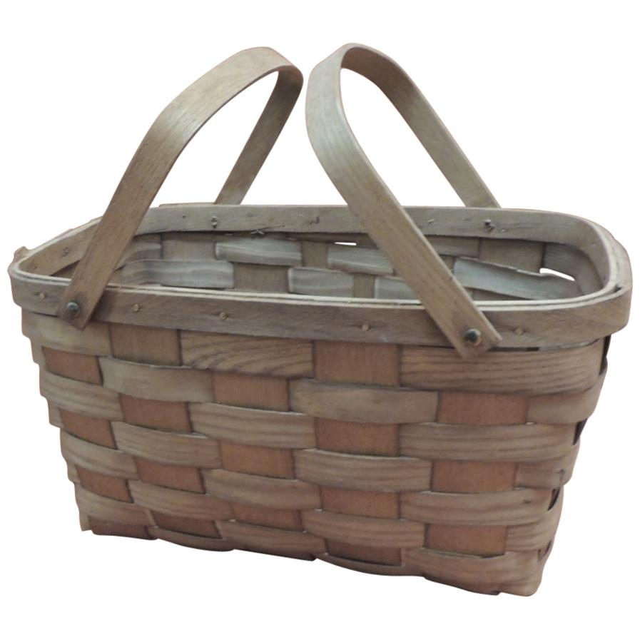 Fruit Flat-Woven Basket with Handles