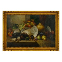 """""""Fruit & Game"""" Still Life Oil Painting by William Duffield"""