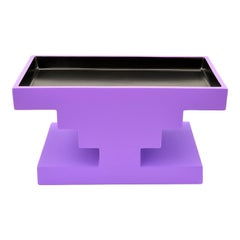 Fruit Tray Black and Lilac by Ettore Sottsass