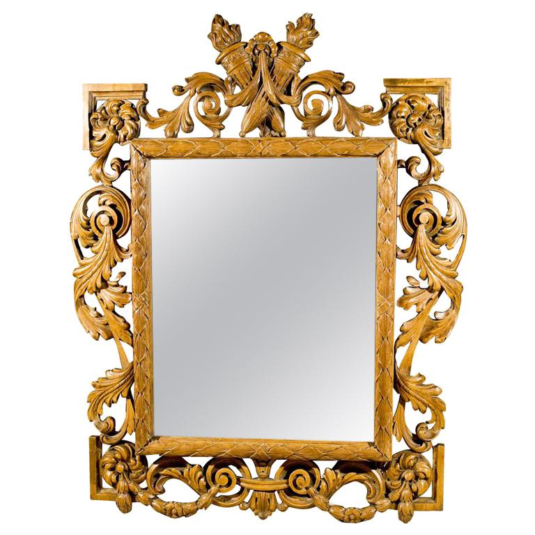 Fruitwood Mirror For Sale