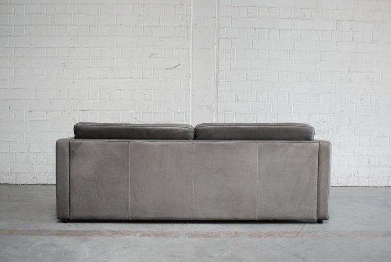 FSM / De Sede Vintage Leather Sofa Anthrazit / Black For Sale 5
