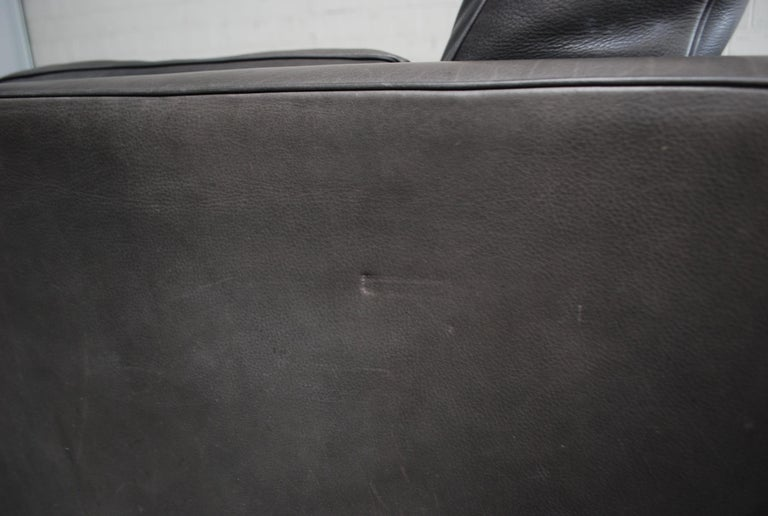 FSM / De Sede Vintage Leather Sofa Anthrazit / Black For Sale 6