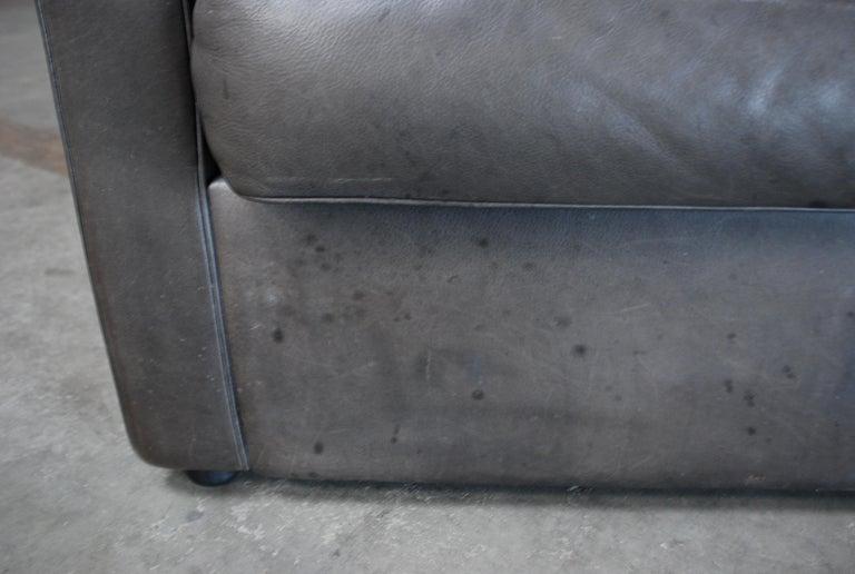 FSM / De Sede Vintage Leather Sofa Anthrazit / Black For Sale 10
