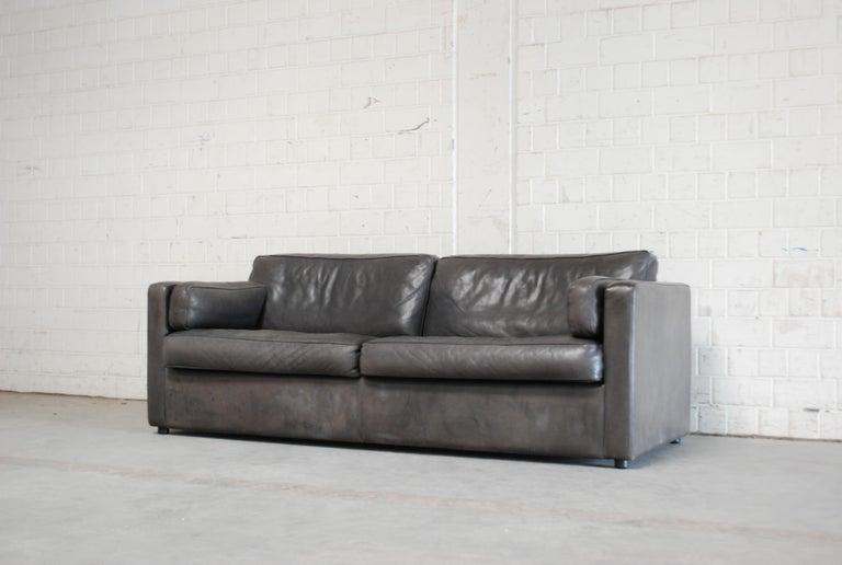 Fine Fsm De Sede Vintage Leather Sofa Anthrazit Black For Gamerscity Chair Design For Home Gamerscityorg