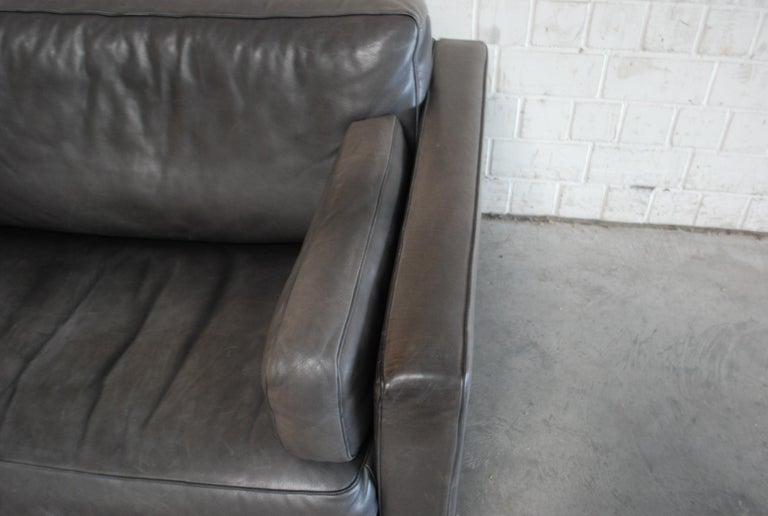 FSM / De Sede Vintage Leather Sofa Anthrazit / Black For Sale 3