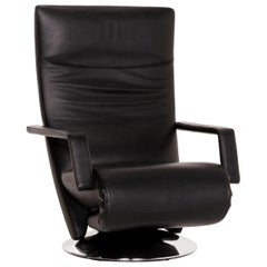 Fsm Evolo Leather Armchair Black Electrical Function Relax Function Recliner