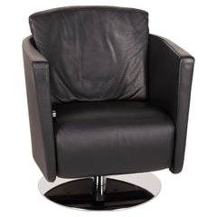 FSM Just Leather Armchair Black Relaxation Function
