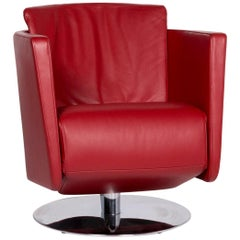 FSM Just Leather Armchair Red Relaxation function