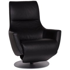 FSM Leather Armchair Black Incl. Function