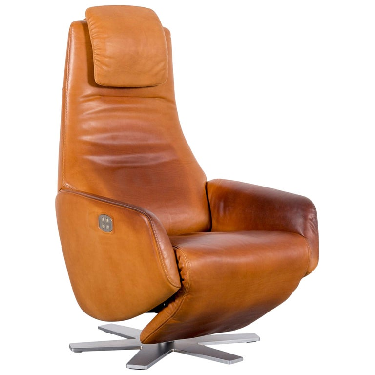 Fsm Skye Designer Leather Armchair Brown One Seat Recliner Tv Chair Relax For