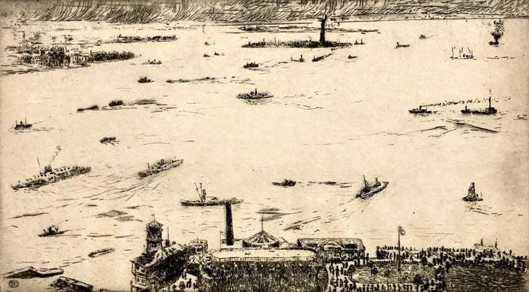 New York Harbor from the Battery - Print by Fugi Nakamizo