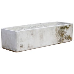 Fugurit Rectangle Concrete Outdoor Planter, 1970s, Signed