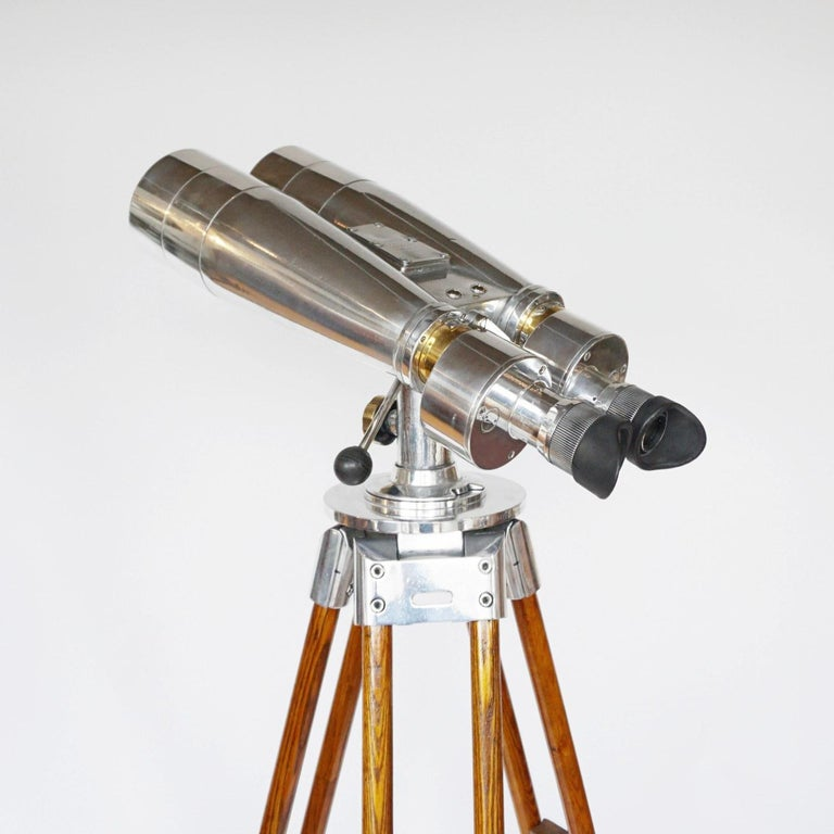 Fuji Meibo 15x80 WW11 Naval/Marine Binoculars In Good Condition For Sale In Forest Row, East Sussex