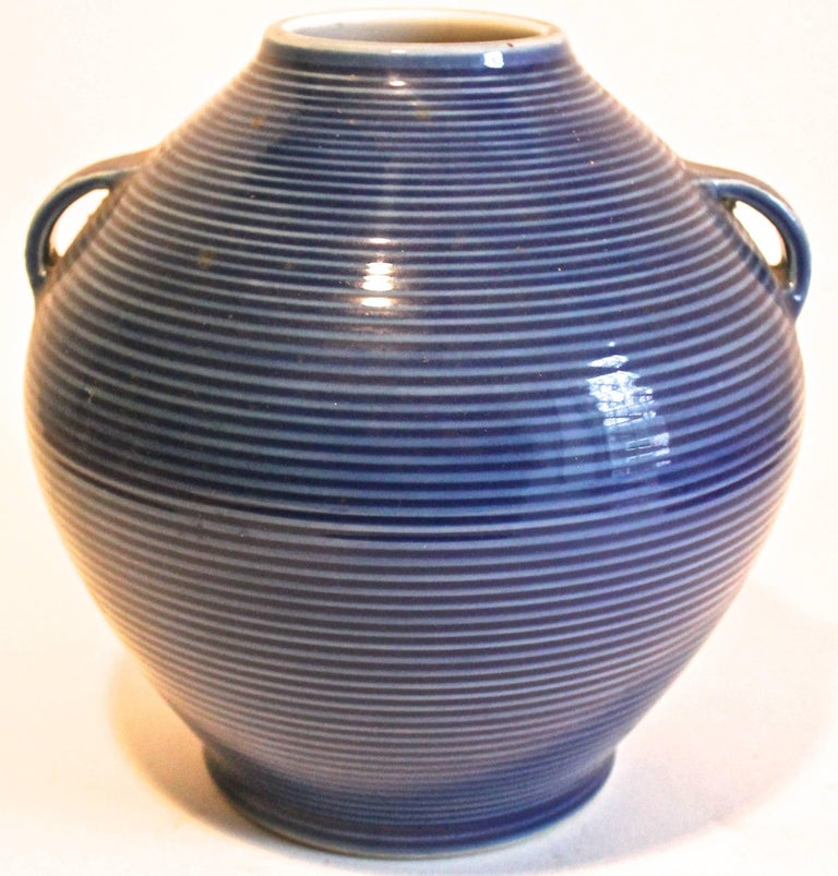 A rare and beautiful vase, an unusual Fukagawa without any oriental naturalistic overtones.